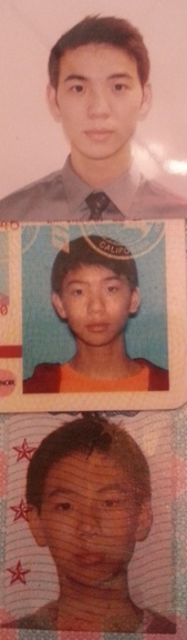 passport from 2004license from 2006passport for 2013 why is my forehead so big ? ???