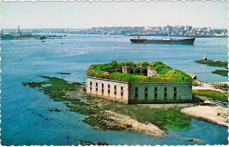 Fort Gorges & Portland Harbor, 1975. Via Portland Maine History 1786 to Present.