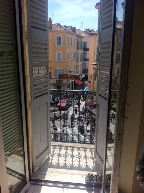A room with a view (at the Cannes Film Festival in Cannes, France).