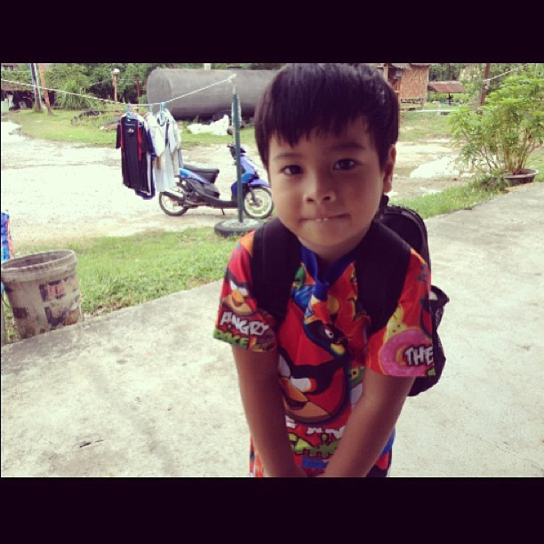He's gone 😥 headed off to school near Chiang Mai. Heartbroken.