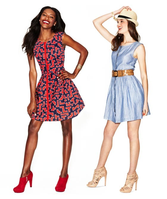 Easy, breezy, Summertime fresh! Love JessieRay and Garrett's sleeveless dress! Get the inside scoop on why Caprice picked it, only on mBLOG.
