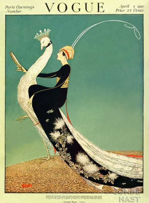 seelenklempner:  Vogue Magazine Cover, April 1st 1918.