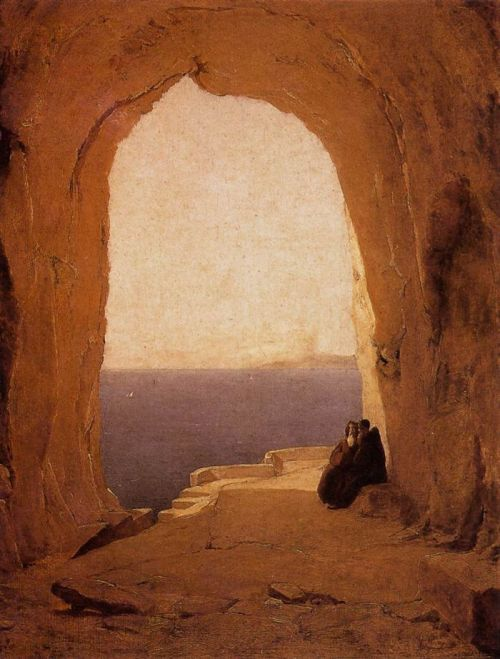 "greluc:  ""Grotto in the Gulf of Naples"" by Karl Blechen 1829"