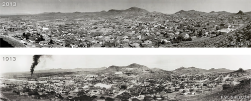 What does it take to re-create a vintage 1913 Tonopah photo by F. W. Sheelor, like the one you see above? Find out in our current May/June 2013 issue: http://nevadamagazine.com/issues/read/tonopah_then_now/. You can see the Mizpah Hotel in the center of the image. 2013 photo by Jim Galli