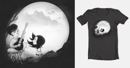 I adapted my Skull Serenade design for a Threadless submission, so here it is, up for scoring for 6 more days!