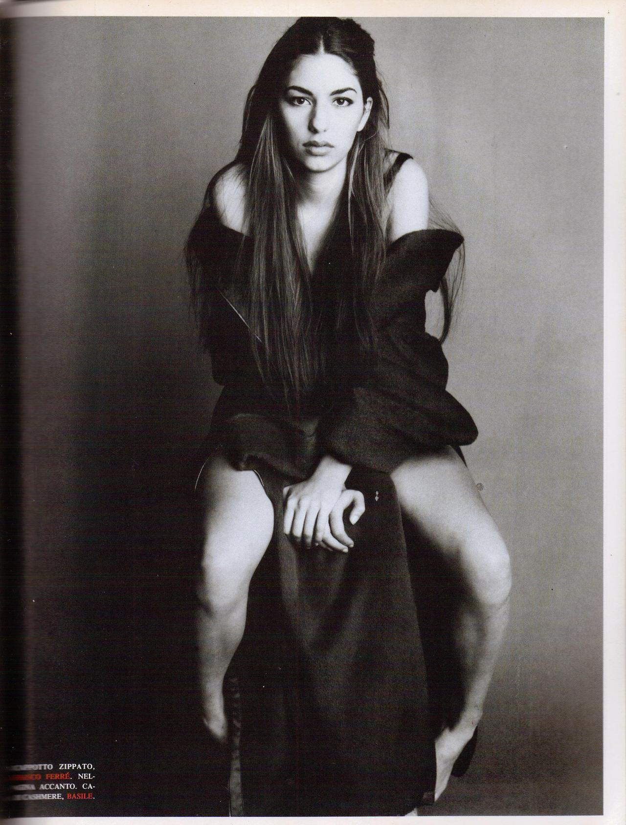suicideblonde:  Sofia Coppola photographed by Steven Meisel for Vogue Italia, December 1992