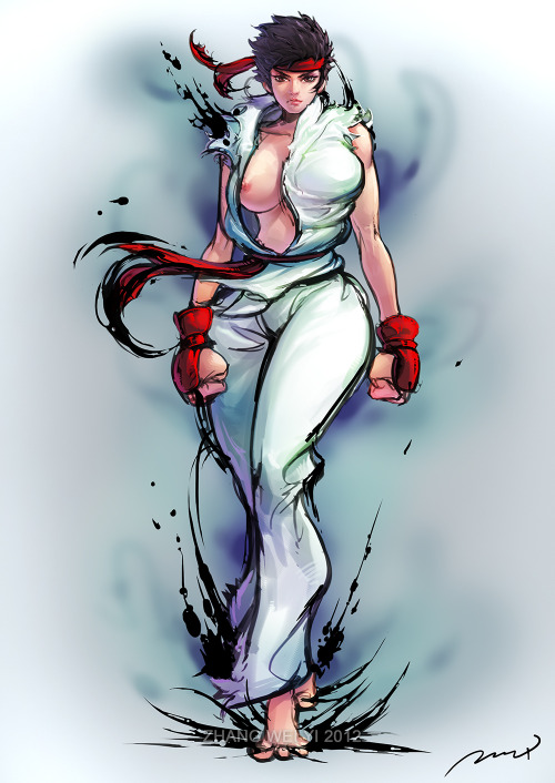 isitweirdifindcartoonshot:  Female Ryu