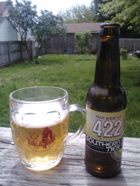 Sittin' on my boy Christian's back porch in Erie drinkin' more Southern Tier.