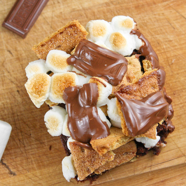 smilestones:  S'mores Brownies
