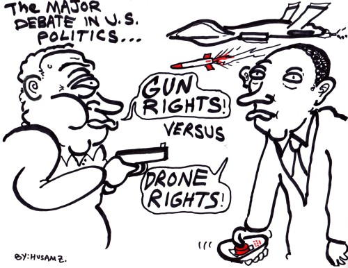 Major Debate In U.S. History by Husam Zakharia #gunrights #dronerights