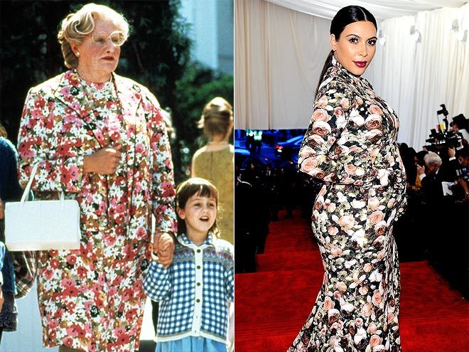 "Celeb Quote of the Week #1  ""I think I wore it better!""  – Robin Williams, comparing his floral Mrs. Doubtfire ensemble to Kim Kardashian's Met Gala gown, on Twitter See more star quotes here!"