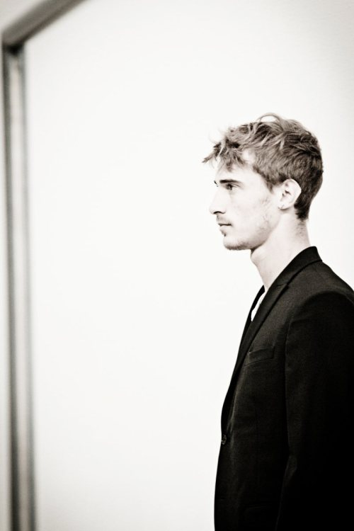 cirquedufleur:  Clement Chabernaud backstage at Neil Barrett F/W '12ph. Sara Cimino