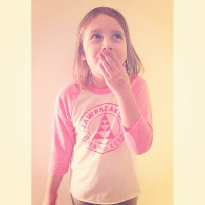 How CUTE is this lil nugget in our kids baseball tee?! 💕 @jord_yn On sale for only $15 @ www.shopjawbreaking.com Also available in blue!