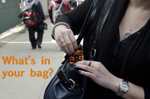 Credit Card? Check. Keys? Check. Condoms? Check. What's in your bag?
