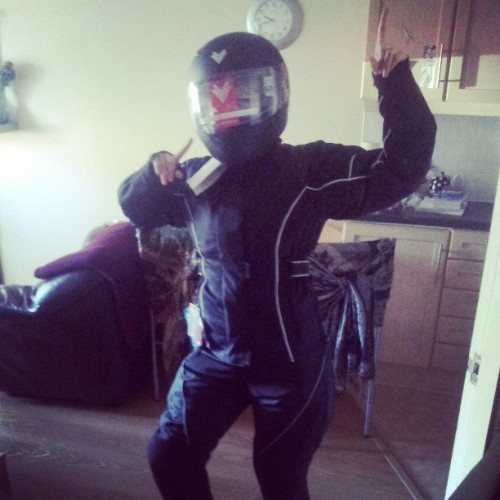 Hev the super sexhly biker chick!