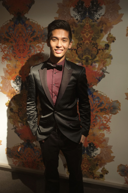 With my suit and bowtie :]