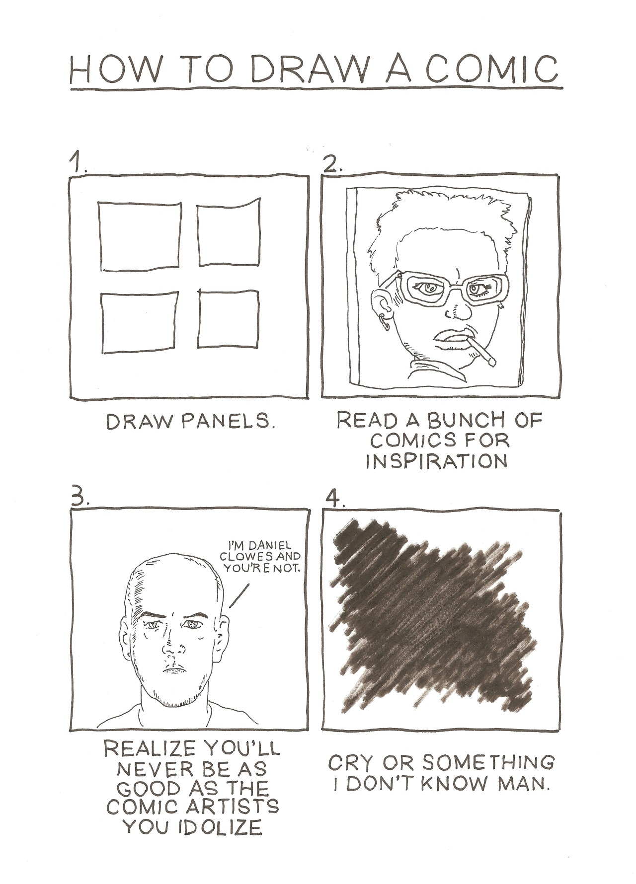 Daniel Clowes inspired fan art by Séamus Gallagher. amajor7:   How to Draw Comics Like Séamus Gallagher Because I'm an Artist and Totally Know What I'm Doing With My Life.