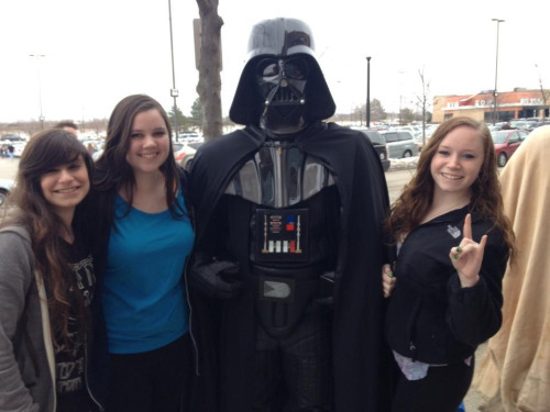 ran into darth vader today, whatevs