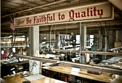 Be faithful to quality.