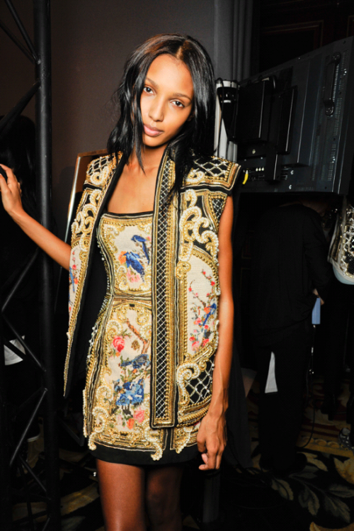 you-cant-be-my-superman:  Backstage @ Balmain
