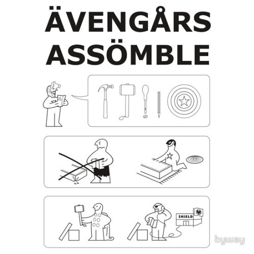 Superhero Assembling by Lee Byway Clothing available at Redbubble Artist: Tumblr / Society6