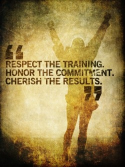 Respect the training…