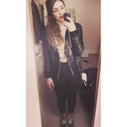 yesterday. #clothes #style #topshop #work #fashion #vans #casual #dipdye #monochrome