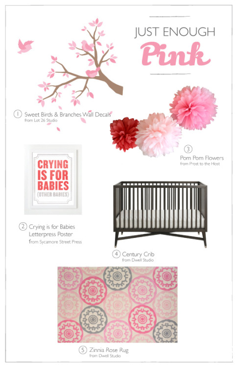 {On the Blog} Just enough pink nursery decor