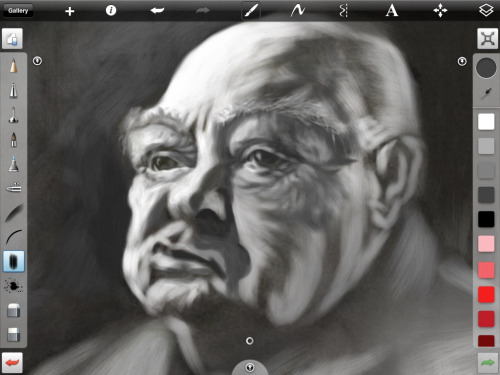 "Sketchbook Pro action on my iPad - Art is life ""We shall never surrender"""