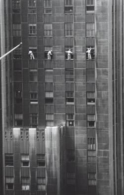 k-a-t-i-e-:  Forty-eighth Street window washers New York City, 1958 Inge Morath