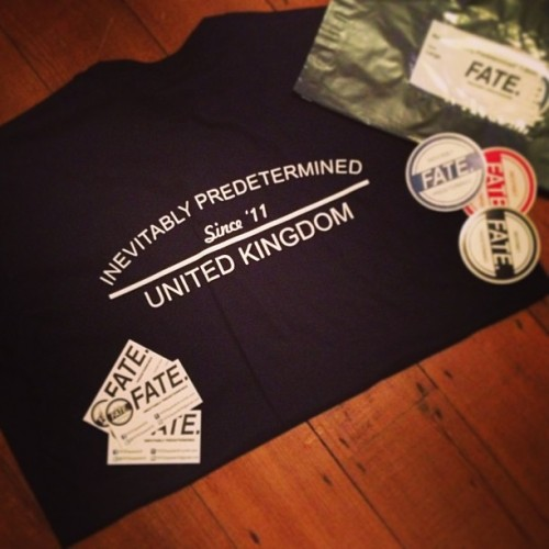 Have you got your Inevitably Predetermined back print t-shirt yet? We ship Worldwide! #fate #fashion #indie #brand #mens #womans #tshirt #sticker #navy #blue #red #black #11 #2011 #print #white #card #uk #london #midlands #paris #press #bag