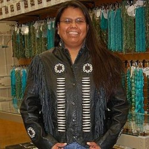 Veronica Begay – Navajo Veronica Begay also known as Ronni, was born and raised on the reservation in a small town called Many Farms, AZ. She has been working with Alltribes Indian Art™ off and on since 2002 as a silversmith. She now works full time since August 2007 in our shipping department. Veronica has learned making jewelry since she was 15 years old which her parents, Wilson and Linda Begay, taught her. She comes from a family that are silversmiths.