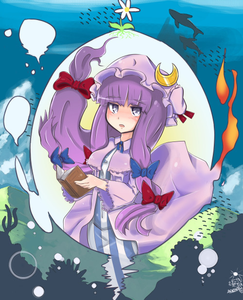 I've got a serious Patchouli backlog I should get around to posting at some point.  In the meantime, have this single pic of her, by b.d