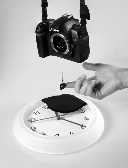 thejogging:  Ode To Pitch Drop, 2013 Nikon D70, Clock (Rusch), Chocolate Sauce ª