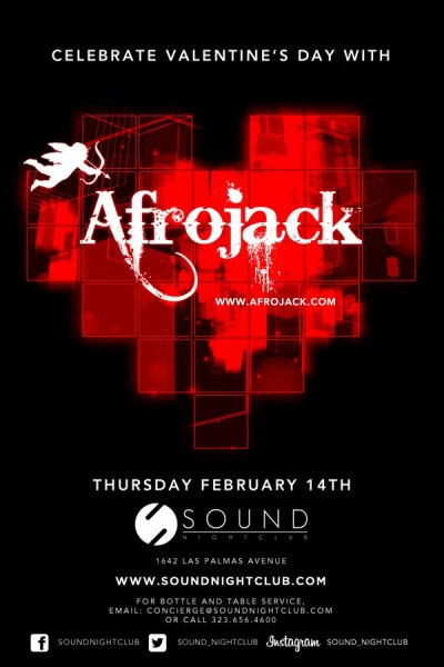 This Valentines Day spend your night with @Afrojack at @Sound_Nightclub. Tickets are selling fast so get your presales now! http://wantickets.com/Events/122387/Celebrate-Valentine-s-Day-with-Afrojack/