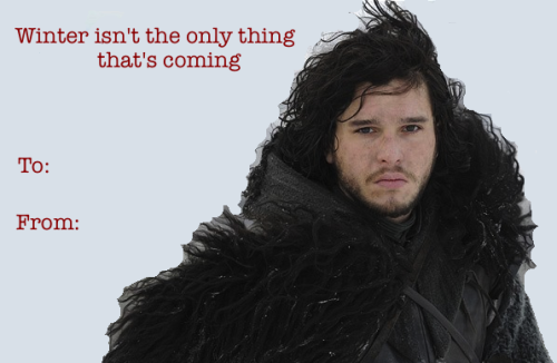 Game Of Thrones Valentine Valentines Day Card Winter Is Coming And Another