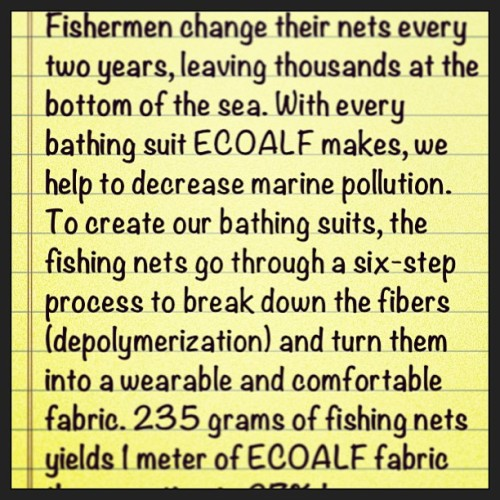 #EarthDay  #Ecoalf  Read more at www.ecoalf .com. #sustainable #design #worldwide #dosomething #makeadifference #notatrend #thefuture
