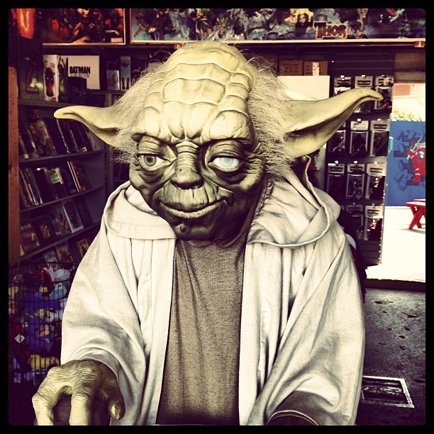 Yoda. #starwars #yoda (at DreamWorld Comics)