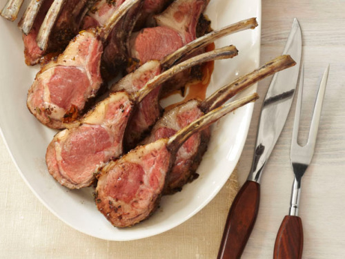 yummyinmytumbly:  Roasted Rack of Lamb
