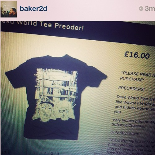 Check out @baker2d ! His new preorders are up and limited in numbers! Grab one now! PARTY TIME! EXCELLENT! www.baker2d.bigcartel.com#waynesworld #deadworld #baker2dawesime #buyitnow!