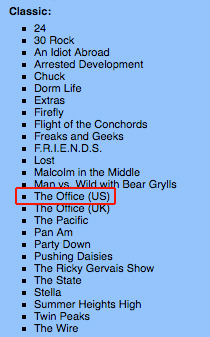 "had to move The Office into the list of ""Classic"" tv shows that I've seen UGH"