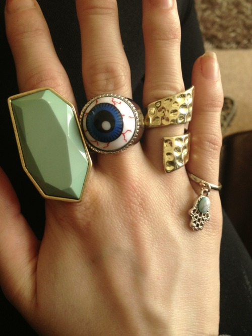 dink-182:  Love my rings today 💍