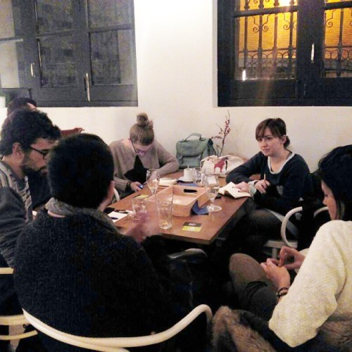 Tarde braintorming con algunos blogueros de @madeinzaragoza. Go! :) (en Café Nolasco)