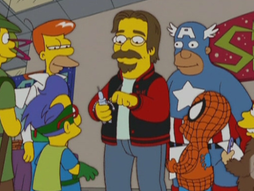 Matt Groening: I'm happy to give anyone my autograph, anytime, anywhere. On the street, in a store, or on my private property. But why be happy with just an autograph? What about an original sketch or a snippet of my hair? And don't forget to pull my beard. They say it's good luck.