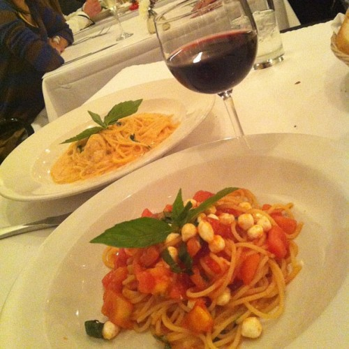 This was definitely a lovely dinner!  (at Basta Pasta)