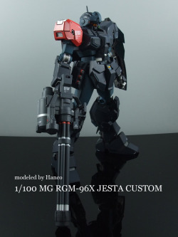 mrrobotto:  MG RGM-96X Jesta customise by hanco  Just gives me the honey-glow in mah cheeks!