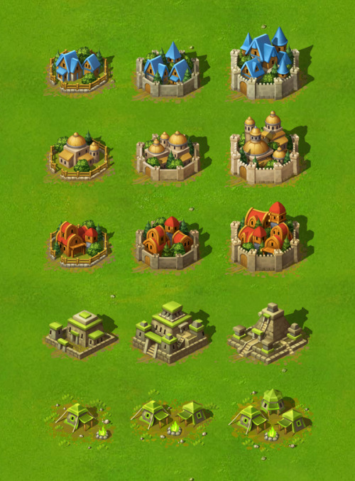 Towns for 'New Battles' game, by Yusuf Artun