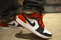 sweetsoles:  Nike Air Jordan 1 'BMP Pack - Old Love' (by jordanc2013)
