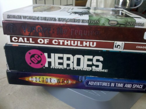 My Gen Con reading list.