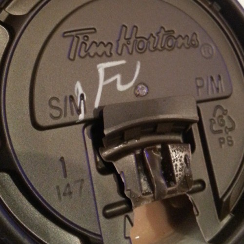 *sniff* Timmies is never happy to see me..
